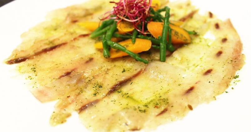 Recette dietetique Carpaccio filet maigre, thalasso oleron